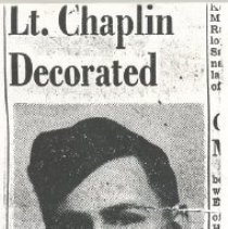 Image of Newspaper clipping Lt Chaplin