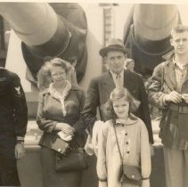Image of Donald with family 1949
