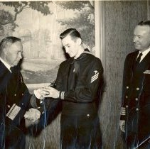 Image of Receiving bowlingtrophy 1949