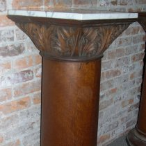 Image of Oak pedestal from Palace Saloon - Pedestal