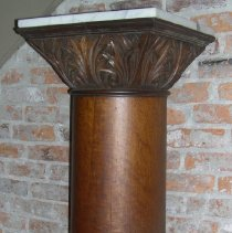 Image of Oak pedestal from Palace Saloon - Pedestal