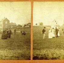 Image of Stereoview: Croquet party in Fernandina Beach - Stereoview