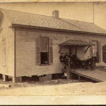 Image of Stereoview: C. H. Mallory & Co. Steamship line office - Stereoview
