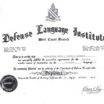 Image of Defense Lan. Inst. Cert.