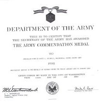 Image of Commendation Medal Award
