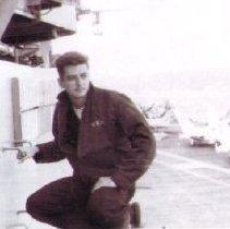 Image of Horton aboard USS Intrepid
