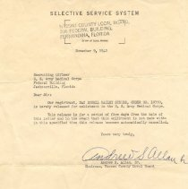 Image of Selective Service Letter