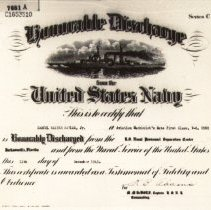 Image of Discharge Certificate 1945
