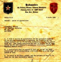 Image of Letter of Appreciation