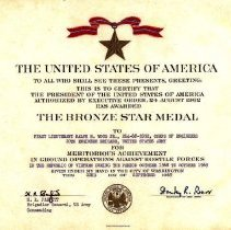 Image of The Bronze Star Medal