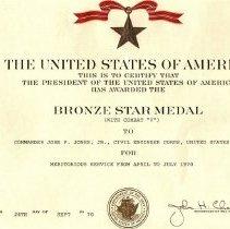 Image of Bronze Star W Combat V 1970