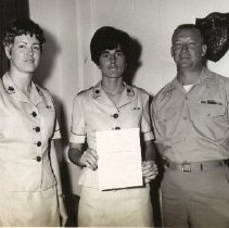 Image of receiving LanceCorporal Stripe