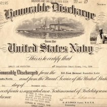 Image of Honorable Discharge Cert.