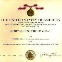 Image of Meritorious Service Medal