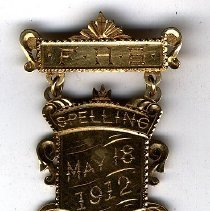 Image of Medal for spelling to Olive M. Galphin - Pin, Award