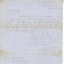 Image of Letter regarding court martial of Sgt. E. B. Sanderson written March 25, 18