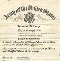 Image of Honorable Discharge Certification