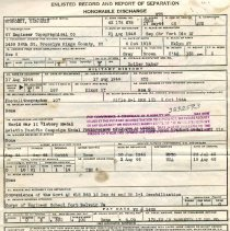 Image of Honorable Discharge Certification - back