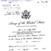Image of Certification of Service
