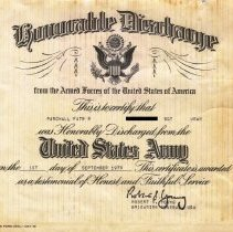 Image of Honorable Discharge Certificated