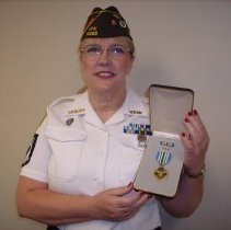 Image of Gail Davis with Joint Commendation Medal