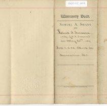 Image of Warranty deed Samuel A. Swann to Frank S. Swann