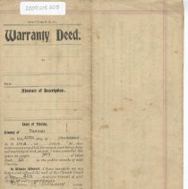 Image of Warranty Deed by Bacon to Rodgers