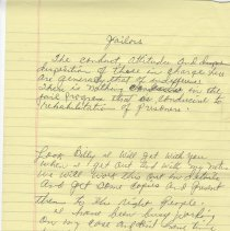 Image of Letter from Nassau County Jail inmate