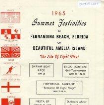 Image of 1965 Summer Festivities in Fernandina Beach, Florida on Beautiful Amelia Island - Pamphlet