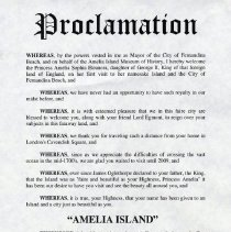 Image of City of Fernandina Beach proclamation