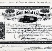 Image of Florida Rail Road Company stock certificate No. 31 - Certificate, Stock