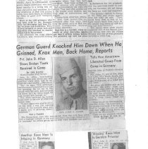 Image of Newspaper article about Allen's Liberation