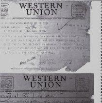 Image of Telegram informing Allen's parents that he is missing in Germany