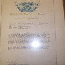 Image of Letter of Appriciation from Korea