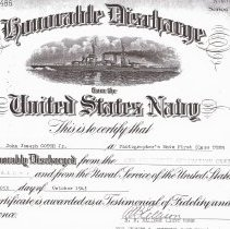 Image of Gotch's Honorable Discharge