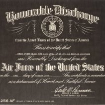 Image of Menga's USAF discharge certificate