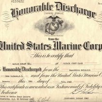 Image of Honorable Discharge paperwork