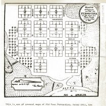 Image of Map of Old Town Fernandina dated 1811 - Map