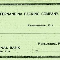 Image of Check from Fernandina Packing Company