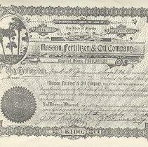 Image of Letter concerning Nassau Fertilizer & Oil Company stock - Certificate, stock