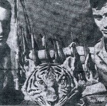 Image of Yost with Vietnam Tiger