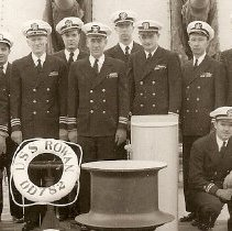 Image of Taylor on USS Rowan in Hong Kong 1951
