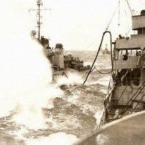 Image of USS Rowan refueling
