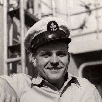 Image of Henry on the USS English, 1951