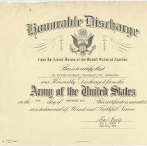 Image of McCromack Honorable Discharge