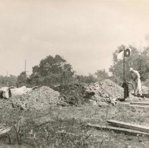 Image of Seaboard Railroad Track Excavation - Print, Photographic