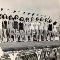 Image of Bathing Beauty Contest at Main Beach, Fernandina - Print, Photographic