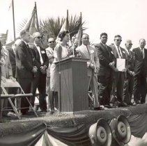 Image of Florida Marine Welcome Station Dedication - Print, Photographic