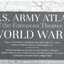 Image of Army Atlas World War II