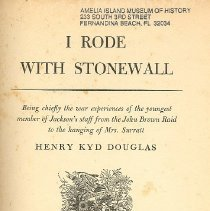 Image of I Rode With Stonewall - Book
